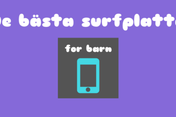 surfplatta for barn