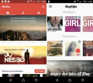 Mofibo vs Storytel användargränssnitt