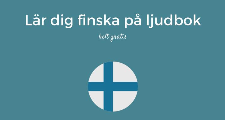 Lär dig finska på ljudbok