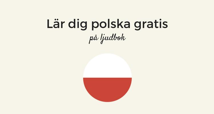 Lär dig polska gratis